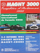"MAGNY COURS F3000 Original 1993 poster 16x23.6 "" (400x605mm)"